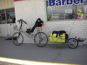 крепление за ось велосипеда